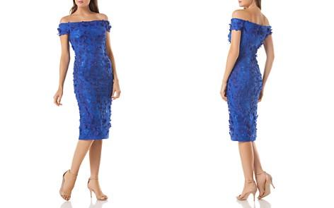 Carmen Marc Valvo Embellished Off-the-Shoulder Dress - Bloomingdale's_2