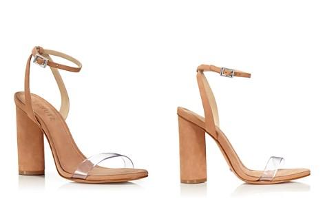 SCHUTZ Women's Geisy Suede Illusion Ankle Strap Block Heel Sandals - Bloomingdale's_2