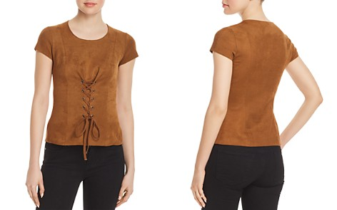Bailey 44 Ricochet Faux-Suede Lace-Up Top - Bloomingdale's_2
