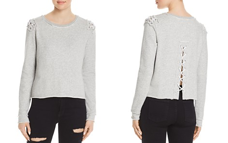 Generation Love Laurie Lace-Up Sweatshirt - Bloomingdale's_2