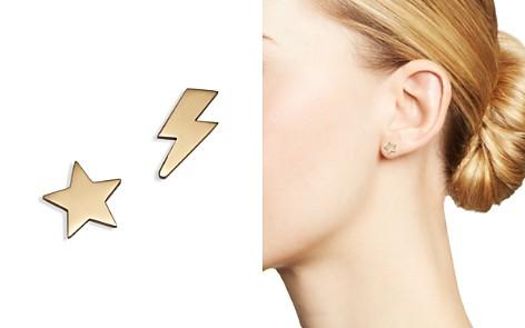Zoë Chicco 14K Yellow Gold Mixed Star & Lightning Bolt Stud Earrings - Bloomingdale's_2
