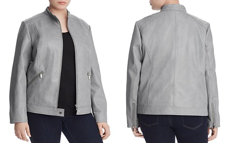 Bagatelle Plus Faux Leather Moto Jacket - 100% Exclusive - Bloomingdale's_2