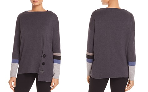 NIC+ZOE Toggled Up Asymmetric Sweater - Bloomingdale's_2