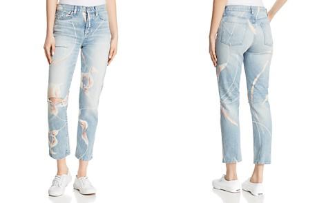 Hudson Zoeey High-Rise Straight Crop Jeans in In Bloom - Bloomingdale's_2