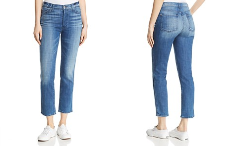 7 For All Mankind Edie Straight Jeans in Boyd Blue - Bloomingdale's_2