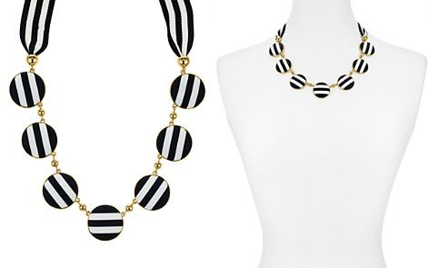 """kate spade new york Striped Disc Necklace, 18"""" - Bloomingdale's_2"""