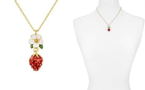 """kate spade new york Flower & Strawberry Pendant Necklace, 16"""" - Bloomingdale's_2"""