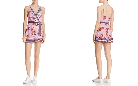 En Créme Printed Faux-Wrap Romper - 100% Exclusive - Bloomingdale's_2