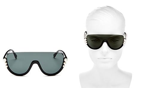 Fendi Embellished Shield Sunglasses, 132mm - Bloomingdale's_2