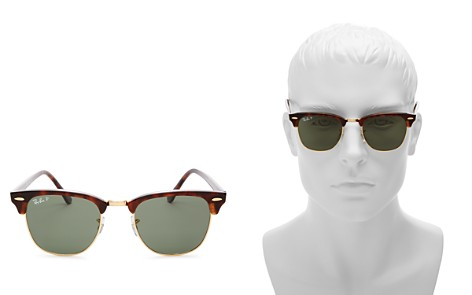 Ray-Ban Unisex Polarized Classic Clubmaster Sunglasses, 49mm - Bloomingdale's_2