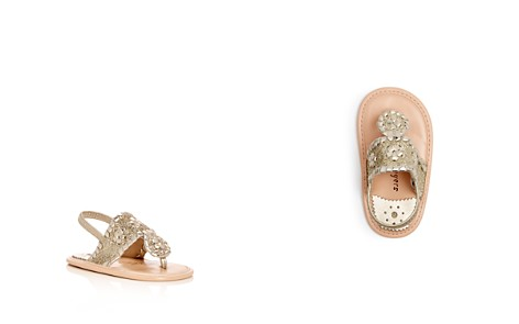 Jack Rogers Girls' Baby Jacks Leather Glitter Slingback Sandals - Baby - Bloomingdale's_2