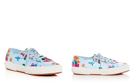 Superga Women's Classic Floral Satin Lace Up Sneakers - Bloomingdale's_2