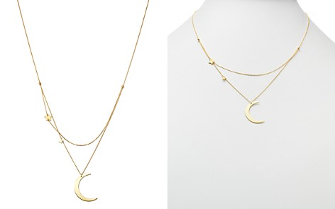 "Moon & Meadow Crescent & Star Charm Layered Necklace in 14K Yellow Gold, 18"" - 100% Exclusive - Bloomingdale's_2"