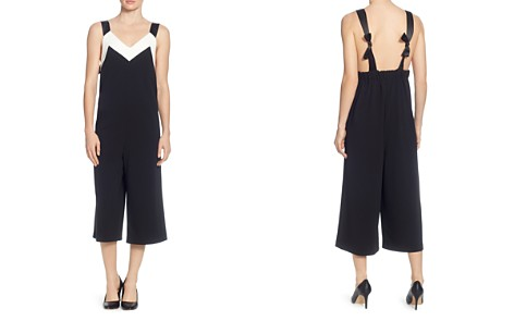 CATHERINE Catherine Malandrino Tre Color-Block Cropped Jumpsuit - Bloomingdale's_2