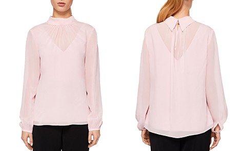 Ted Baker Temia High Neck Silk Blouse - Bloomingdale's_2