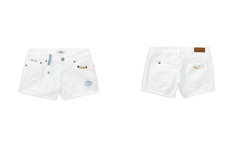 Polo Ralph Lauren Girls' Distressed White Denim Shorts - Little Kid - Bloomingdale's_2