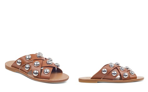 Marc Fisher LTD. Women's Raidan Leather Stud Slide Sandals - Bloomingdale's_2