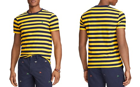 Polo Ralph Lauren Striped Custom Slim Fit Crewneck Tee - 100% Exclusive - Bloomingdale's_2