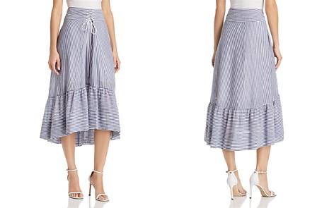 T Tahari Irena Striped High/Low Midi Skirt - Bloomingdale's_2