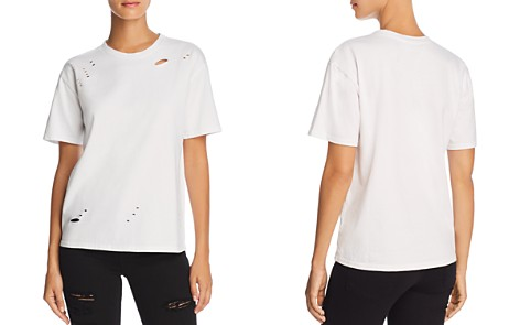 Michelle by Comune Distressed Drop Shoulder Tee - 100% Exclusive - Bloomingdale's_2