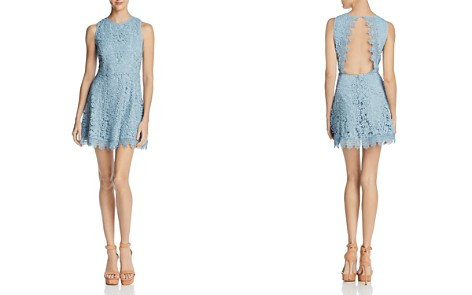 JOA Open-Back Lace Fit-and-Flare Dress - Bloomingdale's_2