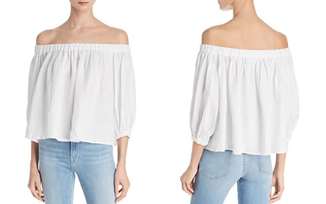 FRAME Embroidered Off-the-Shoulder Linen Top - Bloomingdale's_2