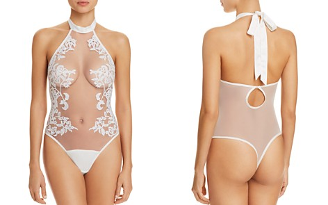 Thistle & Spire Cornelia Embroidered Halter Bodysuit - Bloomingdale's_2