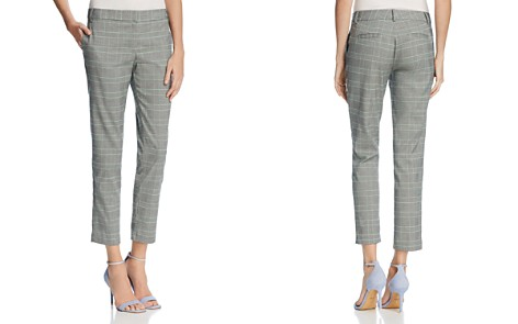 AQUA Glen Plaid Straight Crop Pants - 100% Exclusive - Bloomingdale's_2