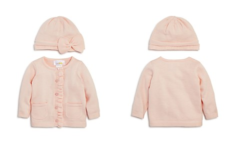 Bloomie's Girls' Ruffled Cardigan & Knit Hat Set, Baby - 100% Exclusive - Bloomingdale's_2