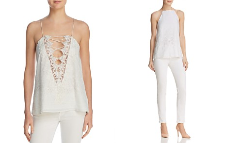 CAMI NYC Charlie Lace-Trimmed Eyelet-Detail Top - Bloomingdale's_2