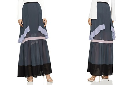 BCBGMAXAZRIA Ruffled Color-Block Maxi Skirt - Bloomingdale's_2
