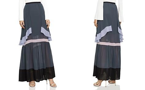 BCBGMAXAZRIA Ruffled Color-Block Maxi Skirt - Bloomingdale's_2