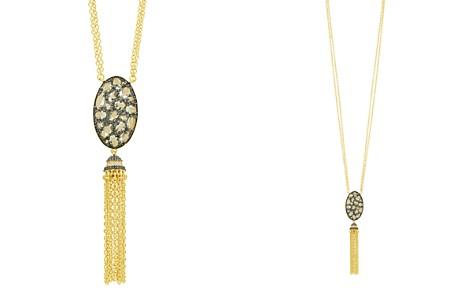 "Freida Rothman Rose d'Or Pavé Cluster Tassel Necklace, 27"" - Bloomingdale's_2"