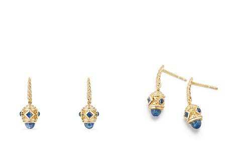 David Yurman Renaissance Drop Earrings with Light Blue Sapphire in 18K Gold - Bloomingdale's_2