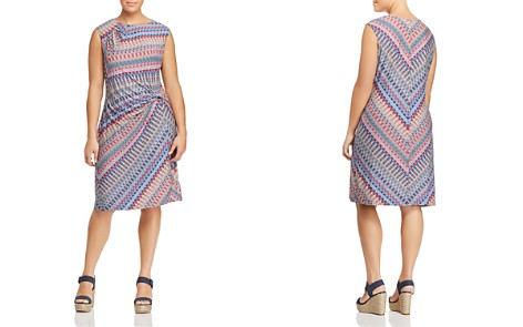 NIC+ZOE Plus Sleeveless Chevron-Print Twist Dress - Bloomingdale's_2