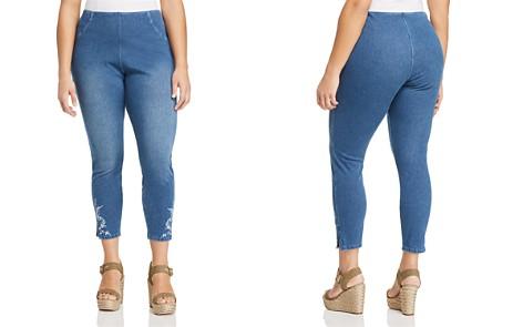 Lyssé Plus Cooper Embroidered Denim Leggings - Bloomingdale's_2