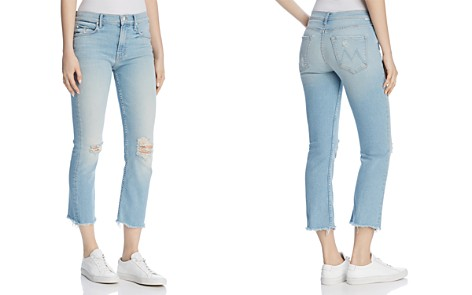 MOTHER The Dutch Distressed Straight-Leg Ankle Jeans in Good From The Start - 100% Exclusive - Bloomingdale's_2