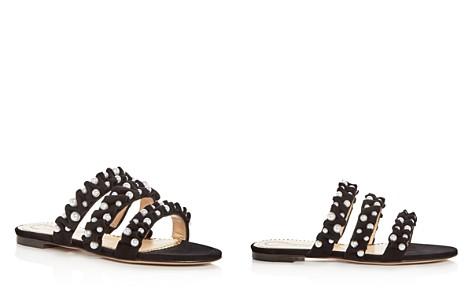Charlotte Olympia Women's Celina Pearl Embellished Slide Sandals - Bloomingdale's_2