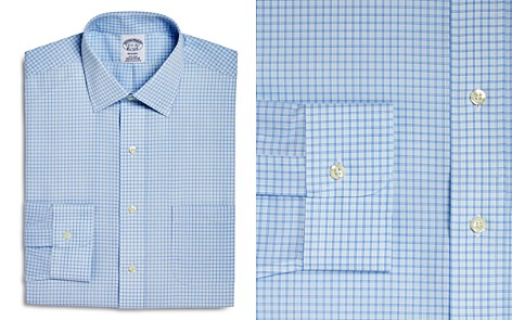 Brooks Brothers Double Windowpane Check Regular Fit Dress Shirt - Bloomingdale's_2