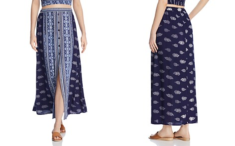 Band of Gypsies Bandana-Print Button-Front Midi Skirt - Bloomingdale's_2