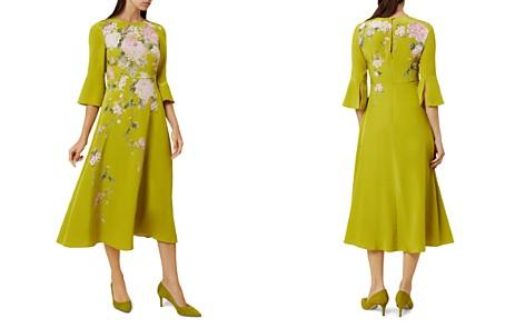 HOBBS LONDON Sadie Bell Sleeve Silk Midi Dress - Bloomingdale's_2