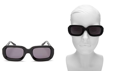 Illesteva Women's Vinyl Rectangle Sunglasses, 52mm - Bloomingdale's_2