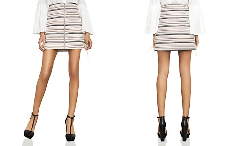 BCBGMAXAZRIA Brittany Lace-Up Striped Skirt - Bloomingdale's_2