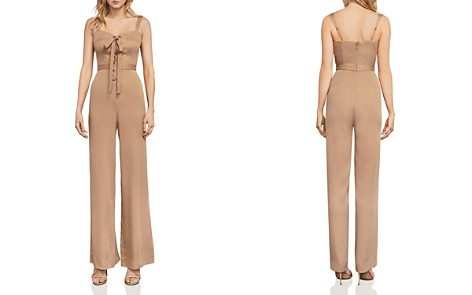 BCBGMAXAZRIA Becka Lace-Up Jumpsuit - Bloomingdale's_2