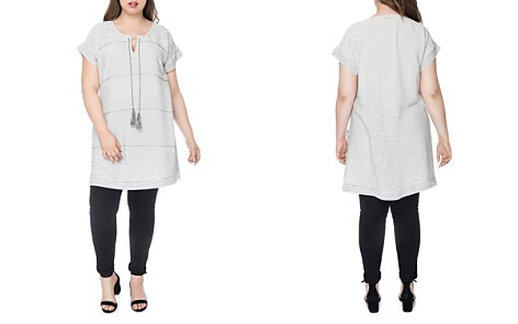 B Collection by Bobeau Curvy Bethie Beaded Tunic - Bloomingdale's_2