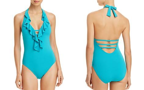 Bleu Rod Beattie Coast to Coast Ruffle Plunge One Piece Swimsuit - Bloomingdale's_2