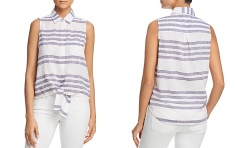 BeachLunchLounge Striped Sleeveless Tie-Waist Top - Bloomingdale's_2