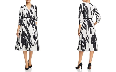 Weekend Max Mara Cartone Brushstroke-Print Wrap Dress - Bloomingdale's_2