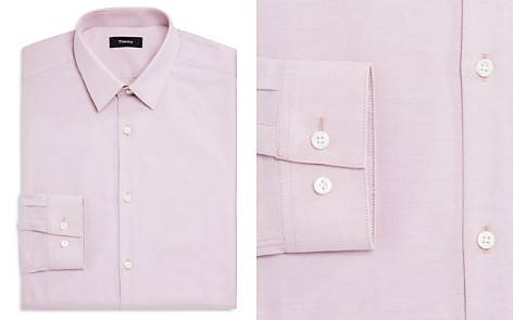 Theory Textured Solid Regular Fit Dress Shirt - Bloomingdale's_2