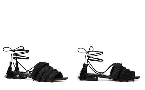 MICHAEL Michael Kors Women's Gallagher Fringed Ankle Tie Sandals - Bloomingdale's_2